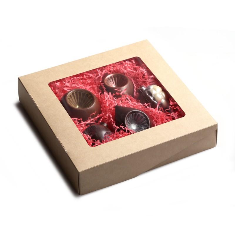 Коробка шоколадных новогодних игрушек 5