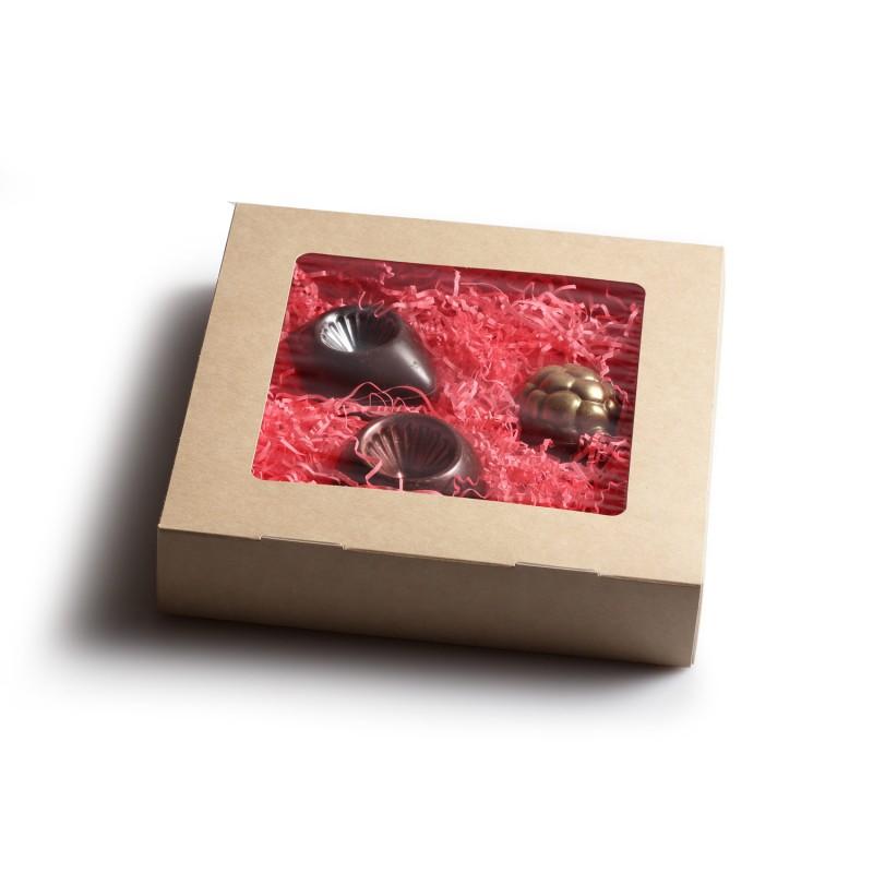 Коробка шоколадных новогодних игрушек 3