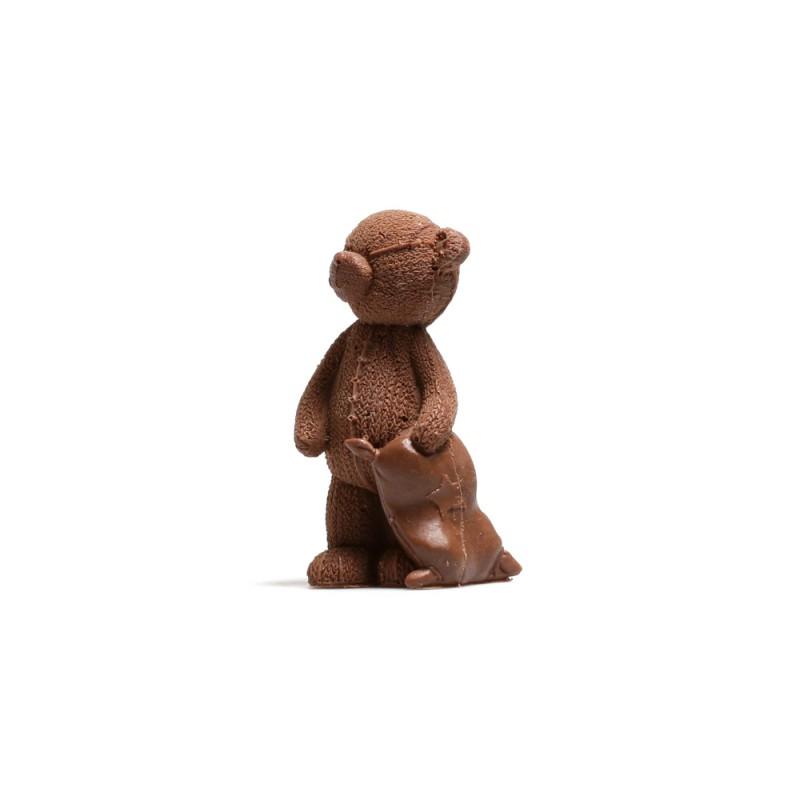 Шоколадный мишка с подушкой