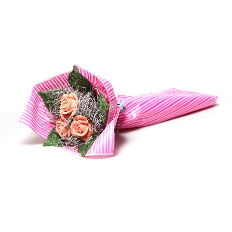 Букет из клубничных роз