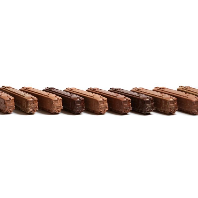 Тираж для РЖД - шоколадные поезда