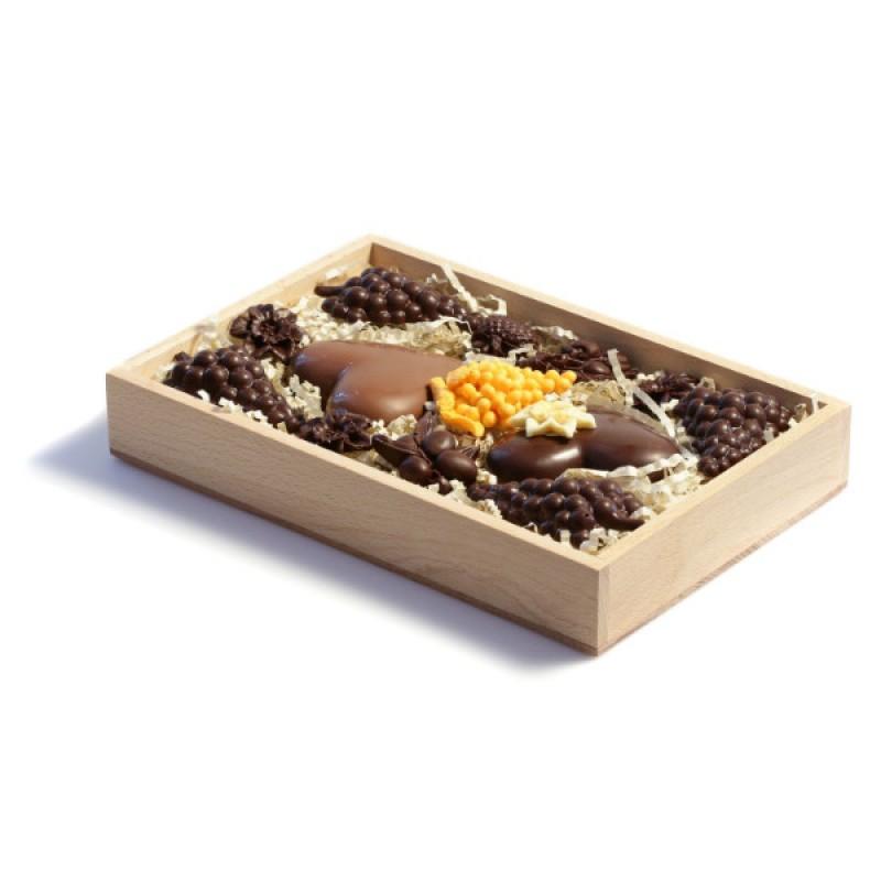 Шоколадный набор - два сердца