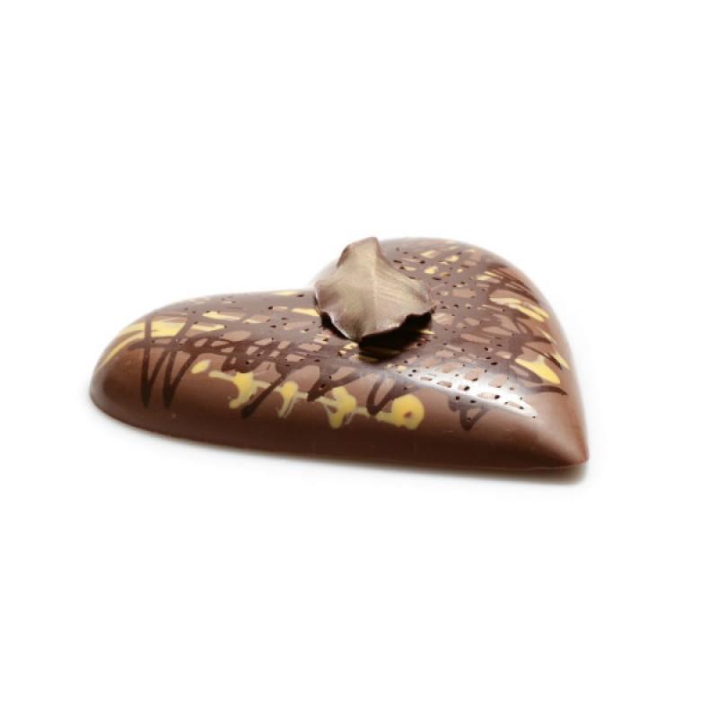 Шоколадное сердце большое