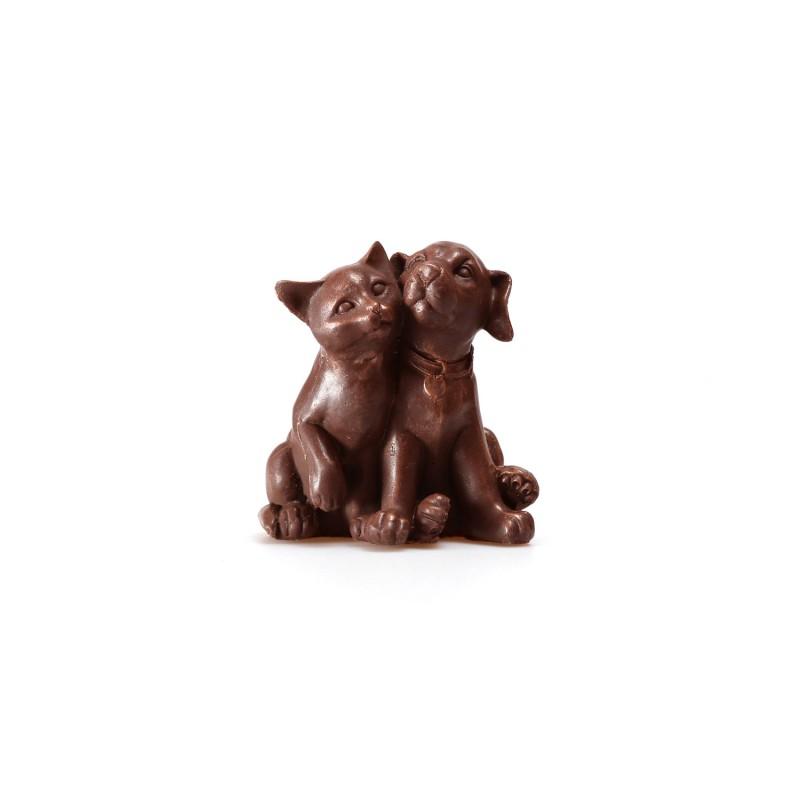 Силиконовая форма собачки с кошкой (дружба)