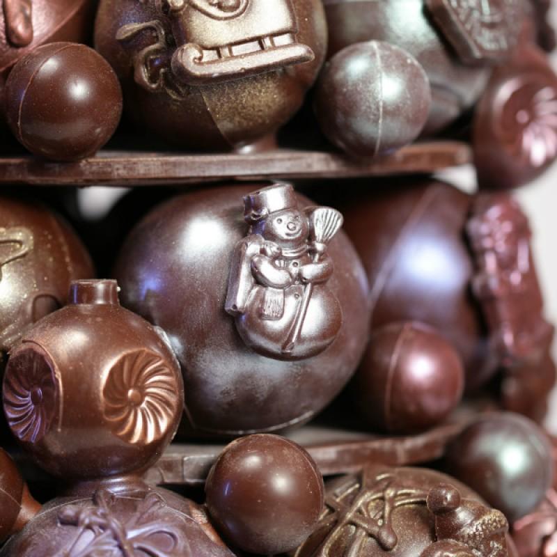 Шоколадная новогодняя королевская елка