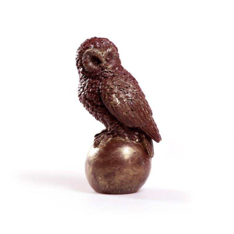 Шоколадная сова на шаре