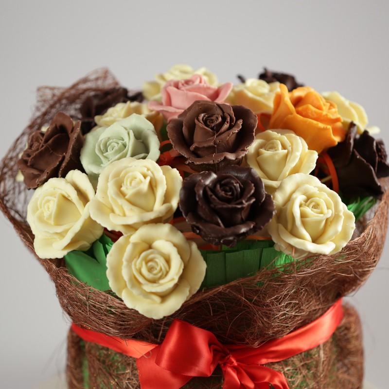 Букет цветов из шоколада
