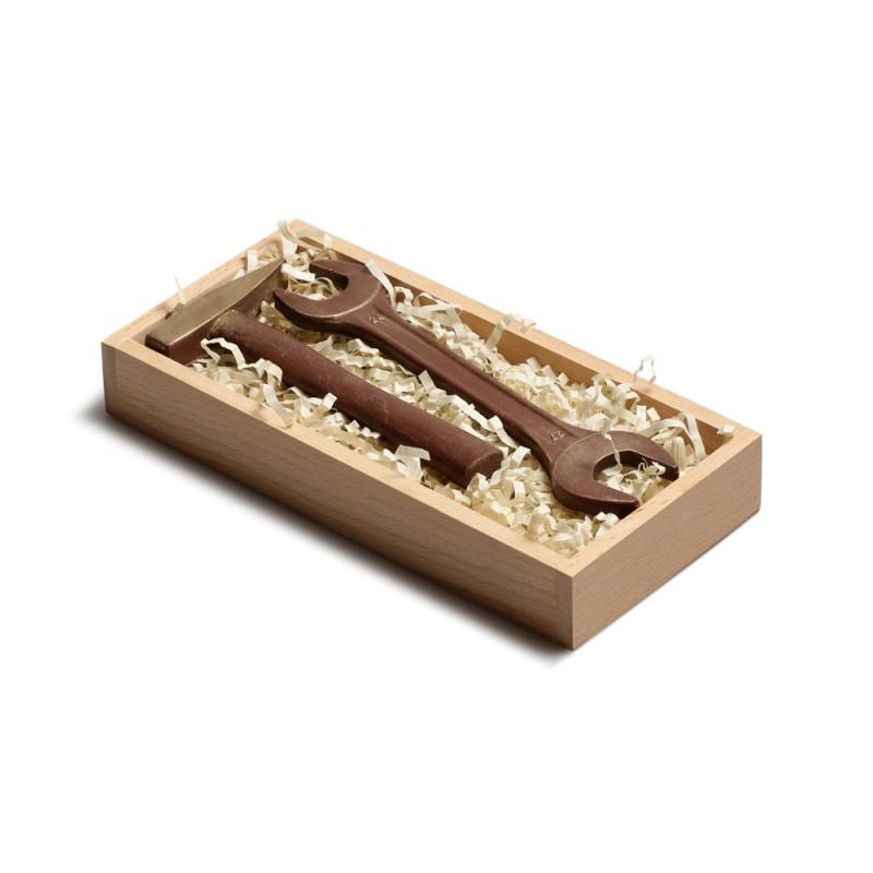 Набор шоколадных инструментов в упаковке из бука